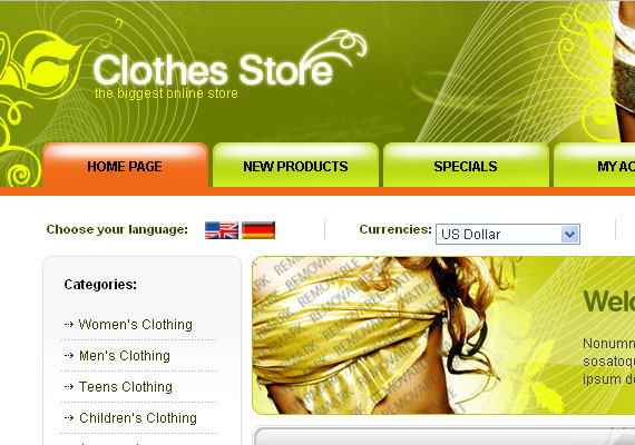10 Free High-Quality E-Commerce Templates